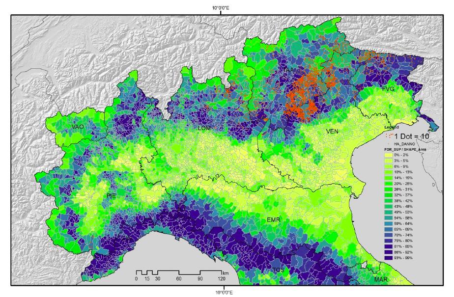 VAIA maps 2